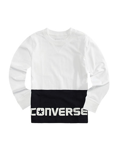 Converse Logo Long-Sleeved Top-WHITE-Large