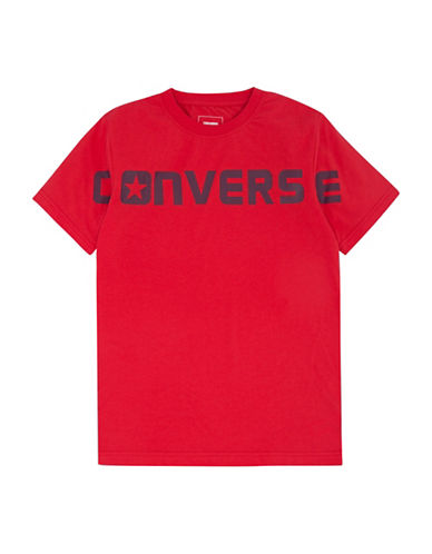 Converse Wordmark Cotton Tee-RED-Medium