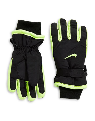 Nike Snow Gloves-BLACK/GREEN-8-18