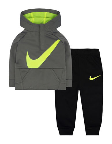 Nike Two-Piece Therma-Fit Jacket and Jogger Pants Set-GREY-24 Months