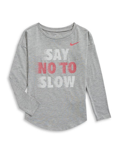 Nike Say No to Slow Long Sleeve T-Shirt-GREY-6