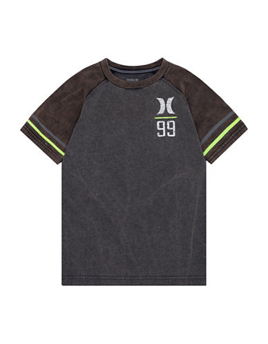Hurley Graphic Raglan Tee-GREY-Large 89613422_GREY_Large
