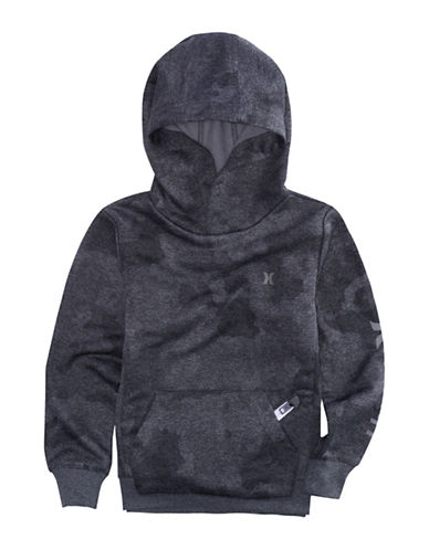 Hurley Toned Camouflage Hoodie-GREY-Large