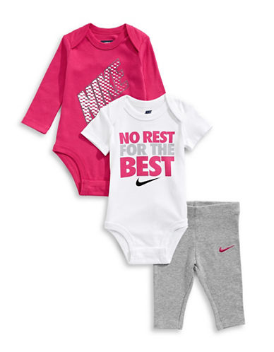 Nike Three-Piece Bodysuit Set-GREY-6-9 Months