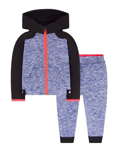 Nike Hoodie and Pants Set-BLUE-24 Months