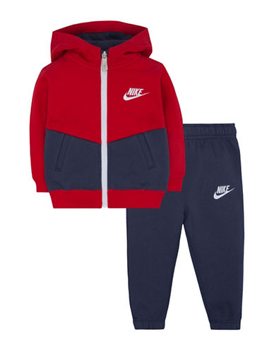 Nike Two-Piece Track Suit Set-RED-24 Months