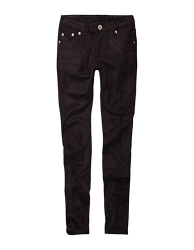 LeviS Brushed Faux Suede Skinny Jeans-BLACK-7