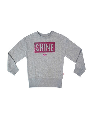 LeviS Sequin Detail Pullover-GREY-6