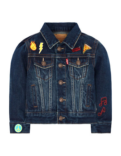 LeviS Cotton Trucker Jacket-BLUE-Large
