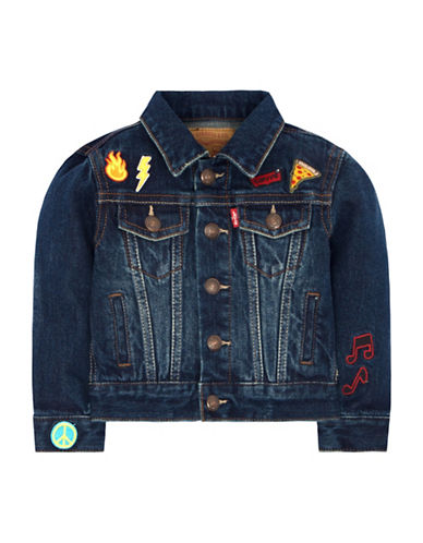 LeviS Stormy River Cotton Trucker Jacket-BLUE-6