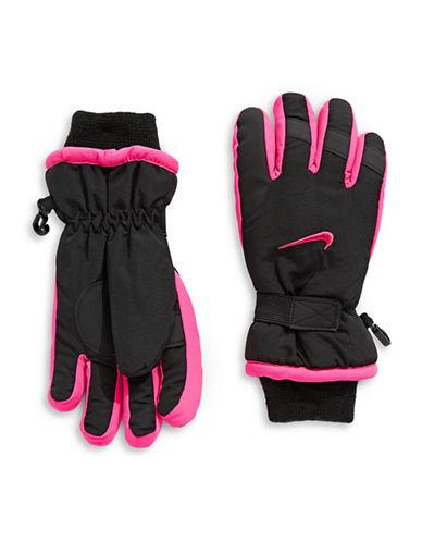 Nike Multi-Tone Snow Gloves-BLACK-Small