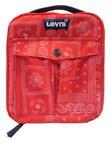 LeviS Floral Print Lunch Tote-RED-One Size
