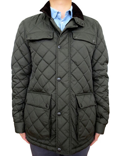 Dockers Snap Front Quilted Jacket-GREEN-XX-Large