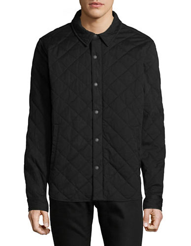 LeviS Quilted Jacket-BLACK-Medium