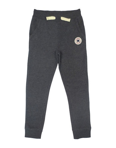 Converse Slim-Fit Fleece Lounge Pants-CHARCOAL-Large