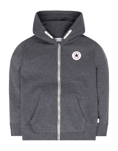 Converse Core C.T.P. Fleece Full Zip Hoodie-GREY-Small