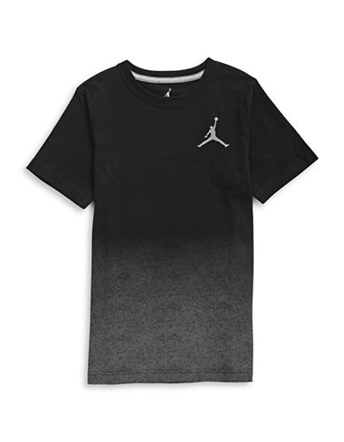 Jordan Dip-Dye Short Sleeve T-Shirt-BLACK-Medium