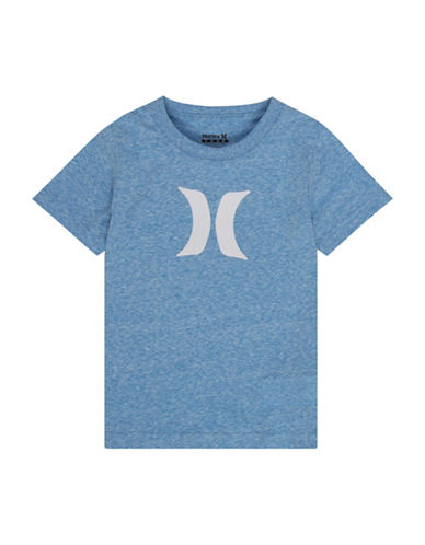 Hurley Cotton Logo T-Shirt-BLUE-Small