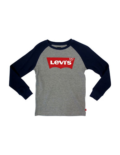 LeviS Raglan Thermal Tee-GREY-5