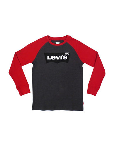 LeviS Raglan Thermal Tee-RED-4