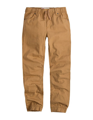 LeviS Ripstop Cotton Jogger Pants-BEIGE-Medium