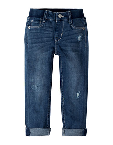 LeviS Distressed Skinny Jeans-BLUE-12 Months