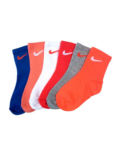 Nike Six-Pack Crew Socks-RED-6-7