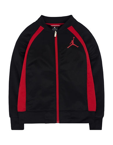 Jordan Wings Tricot Jacket-BLACK/RED-Medium