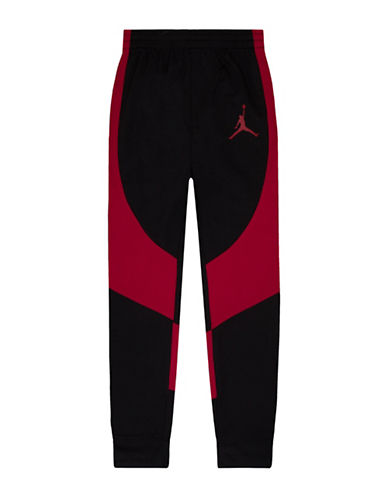 Jordan Wings Tricot Track Pants-BLACK/RED-Large