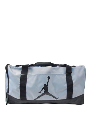 Jordan Reversed Zipper Medium Duffel Bag-GREY-One Size