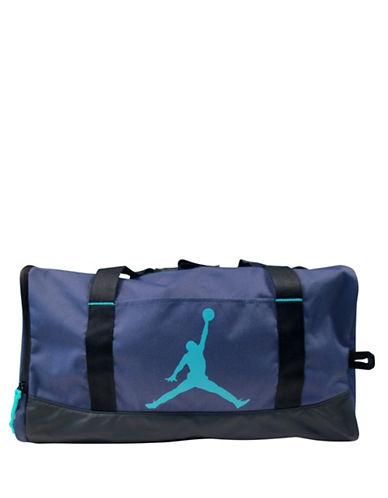 Jordan Reversed Zipper Medium Duffel Bag-BLUE-One Size