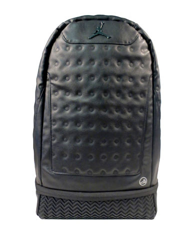 Jordan Metal Jumpman Textured Backpack-BLACK-One Size