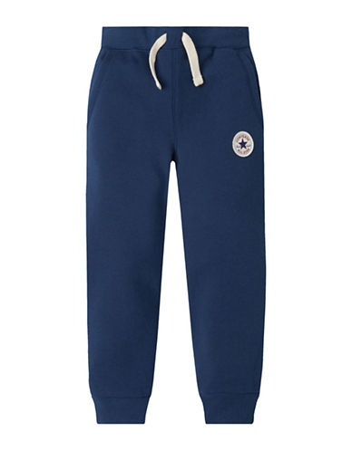 Converse Slim-Fit Fleece Lounge Pants-BLUE-Large