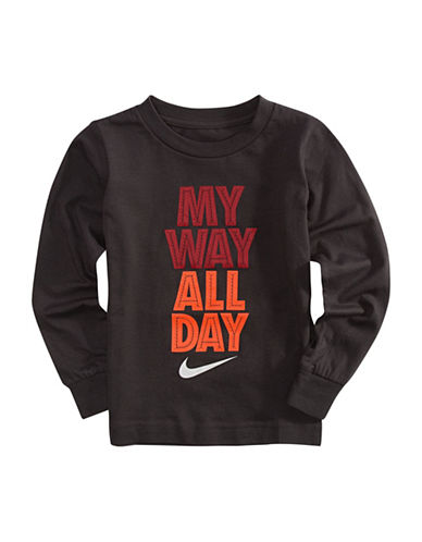 Nike My Way All Day Shirt-GREY-4T
