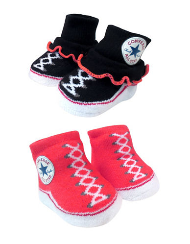Converse Two-Pack All Star Booties Set-RED-0-6 Months