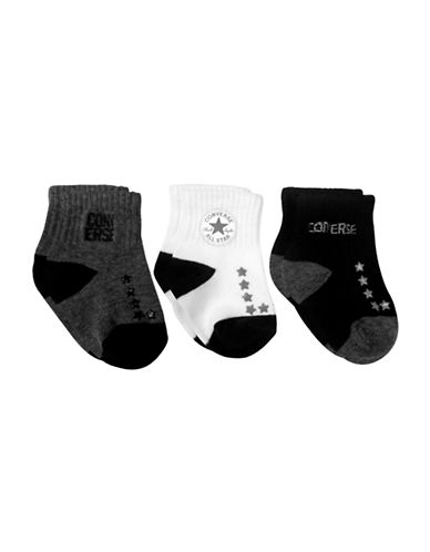 Converse Three-Pack All Star Socks Set-BLACK-3-4