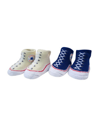 Converse Two-Pack Chuck Booties Set-BLUE-0-6 Months