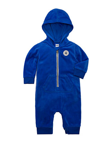 Converse Velour Hooded Coverall-BLUE-6-9 Months