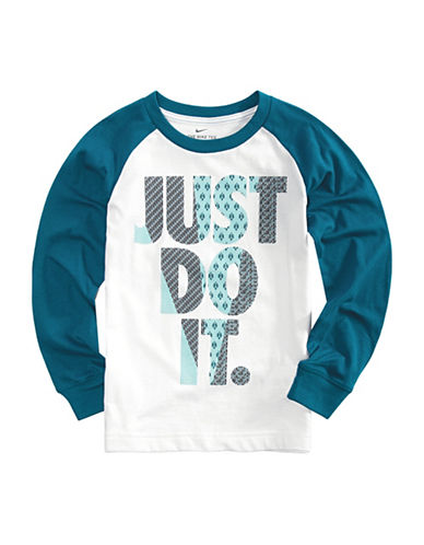 Nike Just Do It Raglan Shirt-BLUE-2T