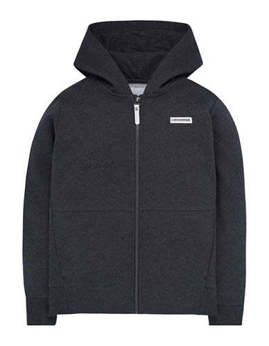 Converse Heavyweight Hybrid Fleece Jacket-CHARCOAL-Small