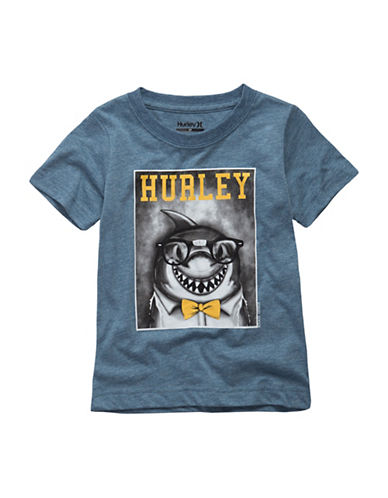 Hurley Graphic Crewneck Tee-BLUE-Medium