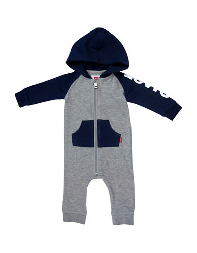 LeviS Colourblocked Knit Coverall-GREY-9-12 Months