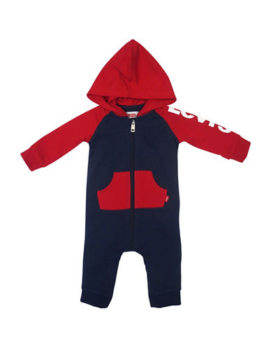 LeviS Colourblocked Knit Coverall-BLUE-0-3 Months