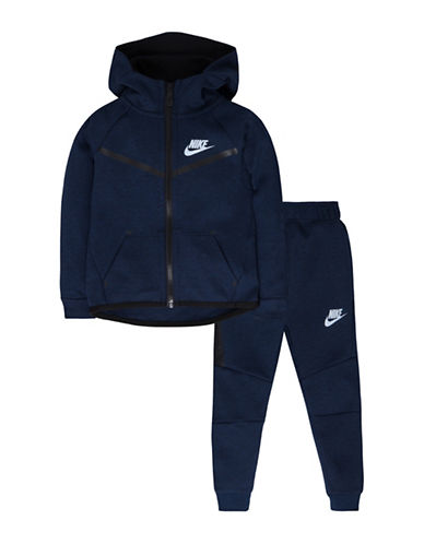 Nike Two-Piece Hoodie and Pants Set-NAVY-3T