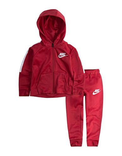 Nike Two-Piece Hoodie and Pants Set-RED-2T