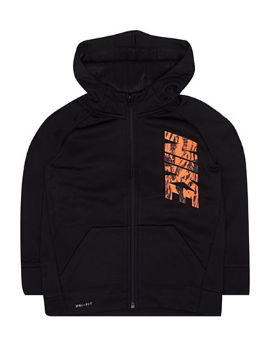 Nike Therma-Fit Circuit Fleece Full-Zip Hoodie-BLACK-2T