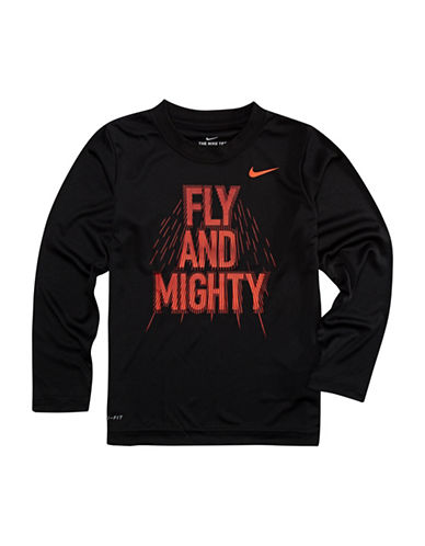 Nike Fly and Mighty Dri-Fit Cotton Shirt-BLACK-7