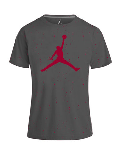 Jordan Speckle Cotton Tee-GREY-Small