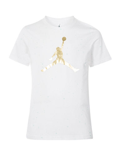 Jordan Speckle Cotton Tee-WHITE-Small