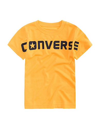 Converse Wordmark Cotton Tee-ORANGE-X-Large